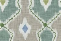 P/K Lifestyles IKAT STITCHERY MIST 408461 Ikat Embroidered Fabric