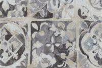 Ellen Degeneres PETRA TILE SMOKE 250691 Floral Print Upholstery And Drapery Fabric