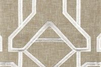 6411412 JIGSAW LINEN Lattice Linen Blend Drapery Fabric