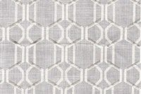 6411511 CORA DOVE GREY Lattice Linen Blend Drapery Fabric