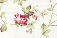 6413111 BAMPTON 15 55IN ROSE Floral Print Upholstery And Drapery Fabric