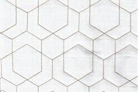 Performatex O'HEX LINEN QUILT WHITE/TAUPE Geometric Indoor Outdoor Upholstery And Drapery Fabric