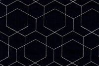 Performatex O'HEX LINEN QUILT NAVY/WHITE Geometric Indoor Outdoor Upholstery And Drapery Fabric