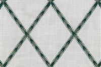 Waverly TRADE WINDS EMB JUNIPER 654541 Lattice Embroidered Drapery Fabric