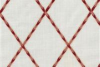 Waverly TRADE WINDS EMB CORAL 654542 Lattice Embroidered Drapery Fabric