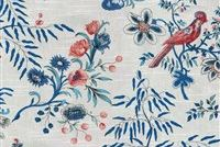 Waverly ABOVE THE TREETOP PORCELAIN 6818 Floral Print Upholstery And Drapery Fabric