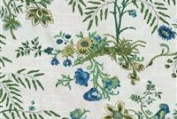 Waverly ABOVE THE TREETOP PRUSSIAN 68189 Floral Print Upholstery And Drapery Fabric