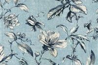 Waverly SWEET BAY INK 681900 Floral Linen Blend Upholstery And Drapery Fabric