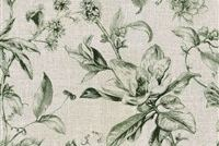 Waverly SWEET BAY CYPRESS 681902 Floral Linen Blend Upholstery And Drapery Fabric