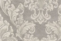 6432221 ANDOVER PLATINUM Floral Damask Upholstery And Drapery Fabric