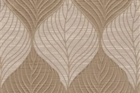 6432514 FOLIAGE LATTE Floral Damask Upholstery And Drapery Fabric