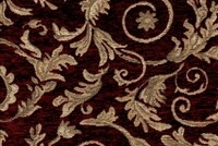 6433315 WESSEX CRIMSON Floral Jacquard Upholstery And Drapery Fabric