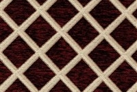 6433515 CORNWALL CRIMSON Lattice Jacquard Upholstery And Drapery Fabric