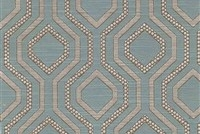 6433814 MAIA MALIBU Lattice Jacquard Upholstery And Drapery Fabric