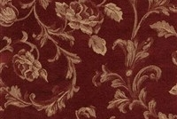 6434211 ASHFORD WINE Floral Damask Upholstery And Drapery Fabric