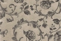 6434212 ASHFORD CHROME Floral Damask Upholstery And Drapery Fabric