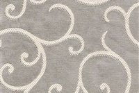 6434313 ARUNDEL PLATINUM Floral Damask Upholstery And Drapery Fabric