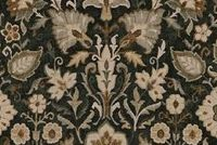 Covington ADELLE 947 NOIR Floral Linen Blend Upholstery And Drapery Fabric