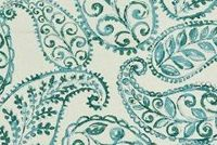Covington BLOOMFIELD 24 SEAGLASS Paisley Linen Blend Upholstery And Drapery Fabric