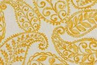 Covington BLOOMFIELD 801 MARIGOLD Paisley Linen Blend Upholstery And Drapery Fabric