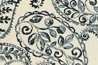 Covington BLOOMFIELD 9 GRAPHITE Paisley Linen Blend Upholstery And Drapery Fabric