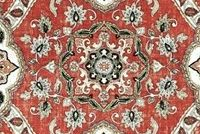 Covington MESSINA 349 VINTAGE RED Floral Linen Blend Upholstery And Drapery Fabric