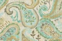 Covington PIPER 545 MINERAL Paisley Print Upholstery And Drapery Fabric
