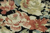 6445911 HELENA ONYX Floral Chenille Upholstery Fabric