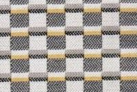 6447211 CROSSWALK GREY GOLD Check Indoor Outdoor Upholstery And Drapery Fabric