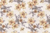6448511 SABINA 38 55IN APRICOT Floral Print Upholstery And Drapery Fabric