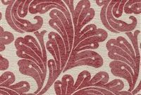 6449211 NANTES 15 55IN RED Floral Jacquard Upholstery Fabric