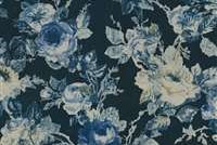 Waverly APPLE HILL INDIGO 682032 Floral Print Upholstery And Drapery Fabric
