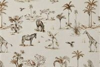 Covington JUMANJI 618 SAFARI Toile Print Upholstery And Drapery Fabric