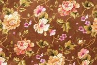 Swavelle Mill Creek GALWAY MILK CHOCOLATE Floral Print Fabric