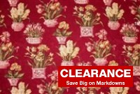 6606311 MELANIE WINE Floral Print Upholstery Fabric