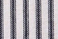 Magnolia Home Fashions BERLIN BLACK Ticking Stripe Print Upholstery And Drapery Fabric