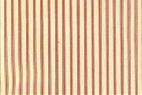 Magnolia Home Fashions BERLIN RED Ticking Stripe Print Upholstery And Drapery Fabric