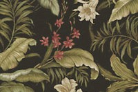 Waverly WAILEA COAST SNS EBONY 667872 Floral Indoor Outdoor Upholstery Fabric