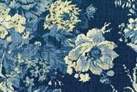Waverly BALLAD BOUQUET INDIGO 670565 Floral Print Fabric