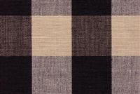 Roth & Tompkins LYME BLACK/NATURAL Buffalo Check Fabric