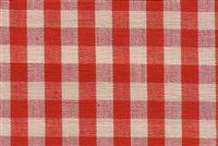 6680127 CHESTER BERRY/NATURAL Check Upholstery And Drapery Fabric