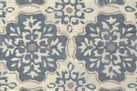 Magnolia Home Fashions LAGRANGE DENIM Floral Print Fabric