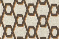 Magnolia Home Fashions RHYTHM CAFE Lattice Print Upholstery And Drapery Fabric