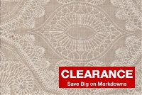 P Kaufmann SABAR 213 SAND Embroidered Drapery Fabric