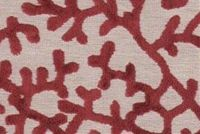 6706723 CHARLESTON BURGUNDY Tropical Velvet Upholstery Fabric