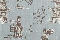 6714511 NEESHEE REGAL BLUE Toile Print Upholstery And Drapery Fabric