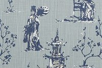 6714513 NEESHEE REGAL NAVY Toile Print Upholstery And Drapery Fabric
