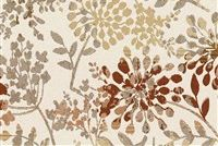 Outdura 3376 WHISPER EARTH Floral Indoor Outdoor Upholstery And Drapery Fabric