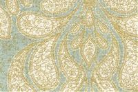 Richloom TROUSSEAU MIST Paisley Print Upholstery And Drapery Fabric