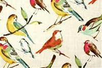 Richloom BIRDWATCHER MEADOW Linen Blend Upholstery And Drapery Fabric